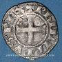 Münzen Philippe IV le Bel (1285-1314). Denier tournois à l'O rond. 1ère émission (sept. 1295 jusqu'en 1303)