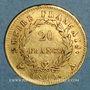 Münzen 1er empire (1804-1814). 20 francs tête laurée EMPIRE, 1810A. Grand coq. (PTL 900/1000. 6,45g)