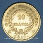 Münzen 1er empire (1804-1814). 20 francs tête laurée, EMPIRE, 1810A. Petit coq. 900 /1000. 6,45 gr