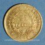 Münzen 1er empire (1804-1814). 20 francs tête laurée REPUBLIQUE 1808A. (PTL 900 /1000. 6,45 g)