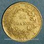 Münzen 1er empire (1804-1814). 20 francs tête nue an 12 A. (PTL 900‰. 6,45 g)