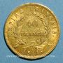 Münzen 1er empire (1804-1814). 40 francs tête laurée EMPIRE 1811A. (PTL 900 /1000. 12,90 g)
