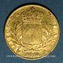 Münzen 1ère restauration (1814-1815). 20 francs buste habillé 1814A. 900 /1000. 6,45 g. Type avec 4 court