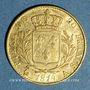 Münzen 1ère restauration (1814-1815). 20 francs buste habillé 1814A. 900 /1000. 6,45 g. Type avec 4 moyen
