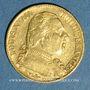 Münzen 1ère restauration (1814-1815). 20 francs buste habillé 1814A. (PTL 900/1000. 6,45 g)