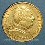 Münzen 1ère restauration. 20 francs buste habillé 1814 A. (PTL 900‰. 6,45 g). Type avec 4 long