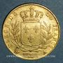 Münzen 1ère restauration. 20 francs buste habillé 1814A. (PTL 900 /1000. 6,45 g). Type avec 4 court