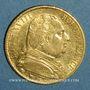 Münzen 1ère restauration. 20 francs buste habillé 1814A. (PTL 900/1000. 6,45 g) Type avec 4 moyen