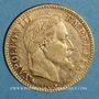 Münzen 2e empire (1852-1870). 10 francs Napoléon III tête laurée 1862 A. (PTL 900 ‰. 3,22 g)