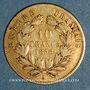 Münzen 2e empire (1852-1870). 10 francs tête nue 1856 A, grand module. (PTL 900‰. 3,22 g)