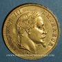 Münzen 2e empire (1852-1870). 100 francs Napoléon III tête laurée 1864 A. (PTL 900‰. 32,25 g)