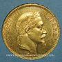 Münzen 2e empire (1852-1870). 100 francs Napoléon III tête laurée 1869 A. (PTL 900‰. 32,25 g)