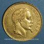 Münzen 2e empire (1852-1870). 100 francs Napoléon III tête laurée 1869 BB. Strasbourg. (PTL 900‰. 32,25 g)