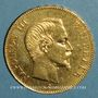 Münzen 2e empire (1852-1870). 100 francs Napoléon III tête nue 1857 A. (PTL 900‰. 32,25 g)