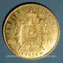 Münzen 2e empire (1852-1870). 100 francs, Napoléon III, tête nue 1859A. 900 /1000. 32,25 gr