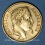 Münzen 2e empire (1852-1870). 20 francs, Napoléon III, tête laurée 1862A. Petit A. 900 /1000. 6,45 gr