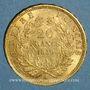 Münzen 2e empire (1852-1870). 20 francs Napoléon III tête nue 1859A. (PTL 900 /1000. 6,45 g)