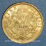 Münzen 2e empire (1852-1870). 20 francs Napoléon III tête nue 1860A. 6/5. (PTL 900 /1000. 6,45 g)