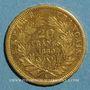 Münzen 2e empire (1852-1870). 20 francs Napoléon III tête nue 1860A. 6/5. (PTL 900 /1000. 6,45 gr)