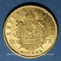 Münzen 2e empire (1852-1870). 20 francs tête laurée 1863BB. Strasbourg. 900 /1000. 6,45 gr