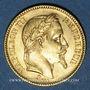 Münzen 2e empire (1852-1870). 20 francs tête laurée 1865BB. Strasbourg. 900 /1000. 6,45 gr
