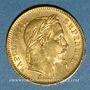 Münzen 2e empire (1852-1870). 20 francs tête laurée 1866BB. Strasbourg. (PTL 900 /1000. 6,45 gr)