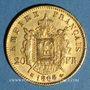 Münzen 2e empire (1852-1870). 20 francs tête laurée 1868BB. Strasbourg. 900 /1000. 6,45 gr
