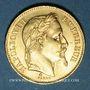 Münzen 2e empire (1852-1870). 20 francs tête laurée 1869BB. Strasbourg. Petit BB. 900 /1000. 6,45 gr