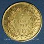 Münzen 2e empire (1852-1870). 5 francs tête nue 1856A. Grand module. 900 /1000. 1,612 gr