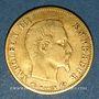 Münzen 2e empire (1852-1870). 5 francs tête nue 1858A. Grand module