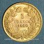 Münzen 2e empire (1852-1870). 5 francs tête nue 1860 BB. Strasbourg. (PTL 900‰. 1,612 g)