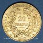 Münzen 2e république (1848-1852). 20 francs Cérès 1849A, millésime serré. 900 /1000. 6,45 gr