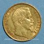 Münzen 2e république (1848-1852). 20 francs Louis Bonaparte 1852A. (PTL 900 /1000. 6,45 gr)