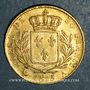 Münzen 2e restauration. Louis XVIII (1815-1824). 20 francs buste habillé 1815 A. (PTL 900 /1000. 6,45 g)