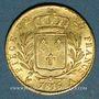 Münzen 2e restauration. Louis XVIII (1815-1824). 20 francs buste habillé 1815A. 900 /1000. 6,45 gr