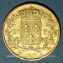 Münzen 2e restauration. Louis XVIII (1815-1824). 20 francs buste nu 1818A .900 /1000. 6,45 gr