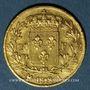Münzen 2e restauration. Louis XVIII (1815-1824). 20 francs buste nu 1818A. 900 /1000. 6,45 gr