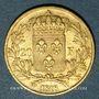 Münzen 2e restauration. Louis XVIII (1815-1824). 20 francs buste nu 1818W. Lille. 900 /1000.  6,45 gr