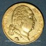 Münzen 2e restauration. Louis XVIII (1815-1824). 20 francs buste nu 1819A. 900 /1000. 6,45 gr