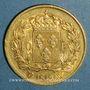 Münzen 2e restauration. Louis XVIII (1815-1824). 40 francs buste nu 1818W. Lille. (PTL 900 /1000. 12,90 g)