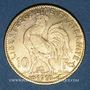 Münzen 3e république (1870-1940). 10 francs Marianne 1910. 900 /1000. 3,22 gr