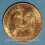 Münzen 3e république (1870-1940). 20 francs Marianne 1914. (PTL 900 /1000. 6,45 gr)