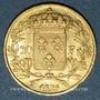 Münzen Charles X (1824-1830). 20 francs 1825 W. Lille. (PTL 900‰. 6,45 g)