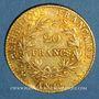 Münzen Consulat (1799-1804). 20 francs an 12A. (PTL 900‰. 6,45 g)