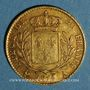 Münzen Louis XVIII (1815-1824). 20 francs buste habillé 1815 A. (PTL 900‰. 6,45 g).