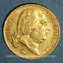 Münzen Louis XVIII (1815-1824). 20 francs buste nu 1824 A. (PTL 900‰. 6,45 g)
