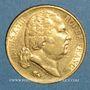 Münzen Louis XVIII (1815-1824). 20 francs buste nu 1824A. (PTL 900‰. 6,45 g)