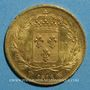 Münzen Louis XVIII (1815-1824). 40 francs buste nu 1818 W. Lille. (PTL 900‰. 12,90 g)