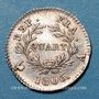 Münzen 1er empire (1804-1814). 1/4 franc, date grégorienne, 1806 A