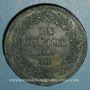 Münzen 1er empire (1804-1814). 1er blocus de Strasbourg 1814. 1 décime 1814 BB. Sans points